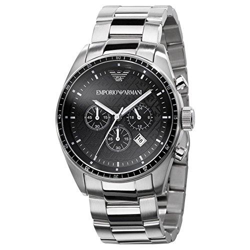 Emporio Armani Herren-Armbanduhr XL Chronograph Edelstahl AR0585