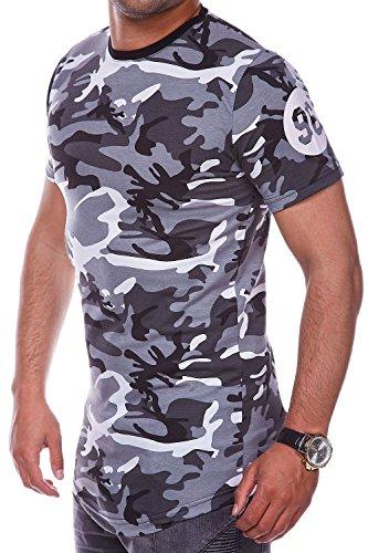 MT Styles Oversize T-Shirt SHAK Camouflage RS-945 Grau