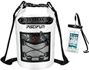 Piscifun Waterproof Dry Bag Backpack Floating Dry Backpack for Water Sports - Fishing, Boating, Kayaking, Surf
