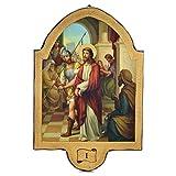 Holyart Vía Crucis 15 Estaciones 50 x 38 cm Estampa en Madera