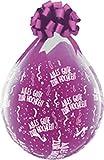 DeCoArt... SET PREIS 2 Geschenkeballons Stufferballons Alles Gute zur Hochzeit Konfetti ca. 45 cm naturell ohne Schleife ungefüllt und 10 kleine Latexballons ca 13 cm perl farbig sortiert