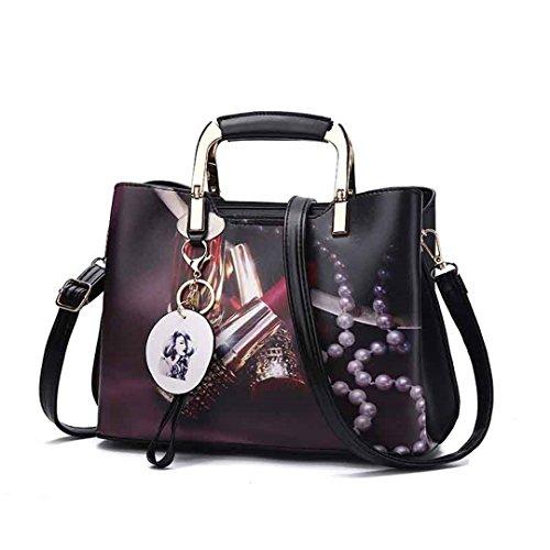 Taschen Großhandel weibliche Tasche Handtasche Schulter seine Tasche black 28x20x13cm