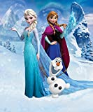 Walltastic 42957 Disney Reine des Neiges Papier Peint Multicolore 243.84 x 202.90cm