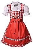Kinderdirndl Dürrwangen Rot/weiß Set, Gr. 152