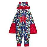 garçon Super-Héro Combinaison cape à capuche masque déguisement fantaisie pyjama 2-6 ans pyjama cadeau noël - super héros bleu 18c375, 3-4 ans