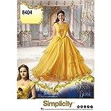 Simplicity 8404 Disney Die Schöne und das Biest Kostüm für Damen, Papier, Weiß, 22 x 15 x 1 cm