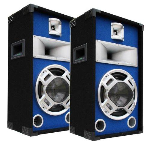 sprecher PAAR Disco Boxen 25cm BASS Blue-LED E-Lektron SPL25 ()