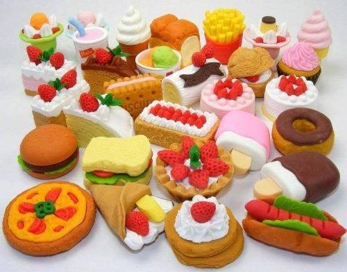 Iwako Gomme puzzle giapponese - Random mescola 30pcs Foods e Dessert (30pcs RAMDOM MIX - Colori e tipi possono essere differenti dalle immagini!)