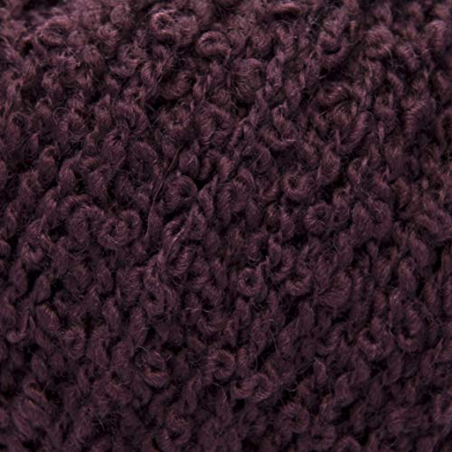 Bouclé-wolle-pullover (ggh Limba - 007 - Dunkles Bordeaux - Schurwolle - Superfine - 50g Knäuel - 110 m - Nadel 4-4,5 - Stricken)