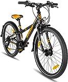 """Prometheus Bicicletta per Bambini e Bambine da 8 Anni in Arancione Opaco e Nero da 24 Pollici con Cambio a 21 Marce - BMX da 24"""" Modello 2019"""