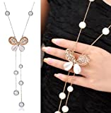 #2: YouBella Fashion Jewellery Stylish Pendants for Girls with Long Chain Pendent Party Western Wear Necklace For Women & Girls