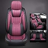 QLL 6 Farben Optionales Autositzkissen Plüsch 360 ° volles Gehäuse High-End-Fußmatte Memory Cotton Kopfstütze,Purple