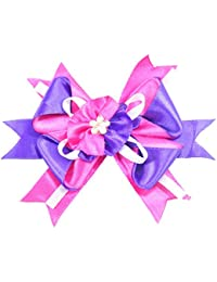 Bows & Beads Kanzhashi Folded Pink And Violet Hair Clip For Women