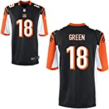 18 Green A.J. Trikot Cincinnati Bengals Jersey American Football Shirt Youth Black Size L