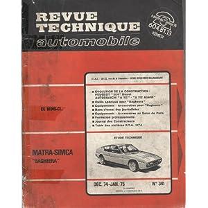 Revue Technique Automobile, n° 341, Matra-Simca Bagheera