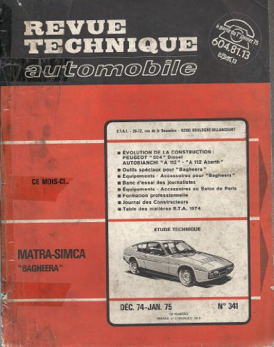 Revue Technique Automobile, n° 341, Matra-Simca Bagheera
