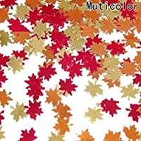 xianhuzhenzhen Stable Heart Maple Leaf Sequins Wedding Ornaments Wedding Party Table Confetti Decorations Table Decoration for Home Decoration(None colour mixture)