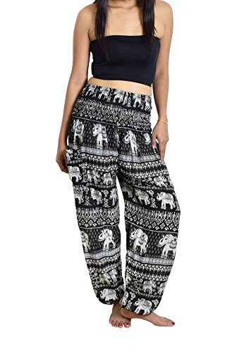 Lanna Thai Harem Trousers with Smock Waist and Bohemian Style 2