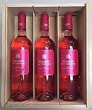 Caja de madera 3 botellas - Marques de Caceres - Vino Rosado