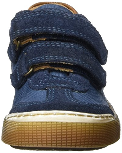 Bisgaard Klettschuhe, Sneakers basses mixte enfant Blau (150 Dark denim)