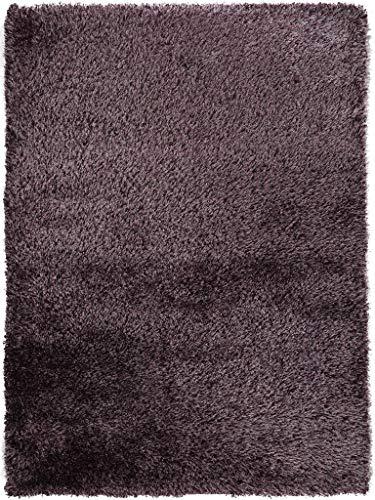 benuta Shaggy Hochflor Teppich Sophie Lila 80x150 cm | Langflor Teppich für Schlafzimmer und Wohnzimmer