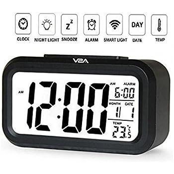 V2A Automatic Sensor Night Time Light Smart Digital Alarm Clock For Home  And Office