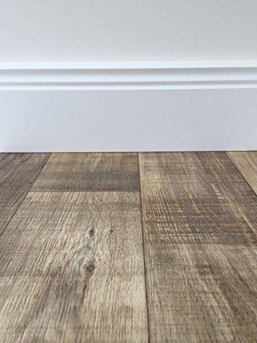 PVC-Bodenbelag Holzoptik in Dunkelbraun | Vinyl-Fußbodenbelag 700 cm Länge & 3 m Breite | Fußbodenheizung geeignet | PVC Platten strapazierfähig & pflegeleicht | Fußboden-Belag