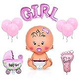 Layal Design Baby Shower Deko Set - Für eine It's a Girl Mädchen Babyparty (14 Teilig)