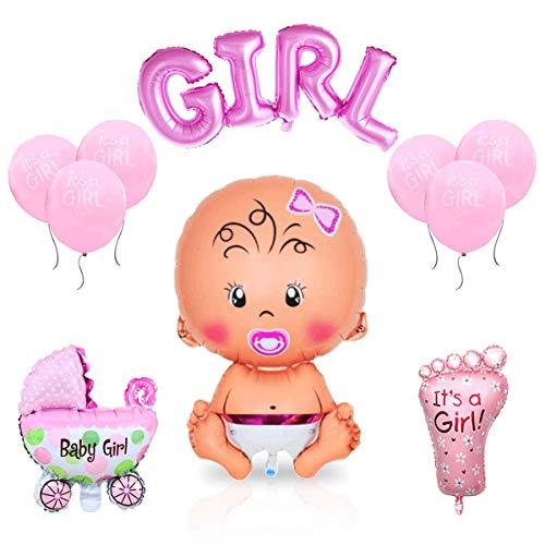 Layal Design Baby Shower Deko Set - Für eine It's a Girl Mädchen Babyparty (10 Teilig)