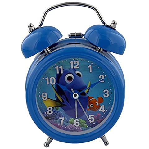 Disney Pixar Child's Double Bell Alarm Clock Finding Dory Clock Face DI303