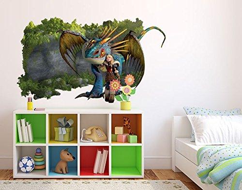 Preisvergleich Produktbild Wandtattoo Dragons Astrid und Sturmpfeil B x H: 60cm x 35cm von Klebefieber®