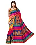 Vivera Womens Bhagalpuri Saree(VRVAIBHAVI_ORANGE7i)