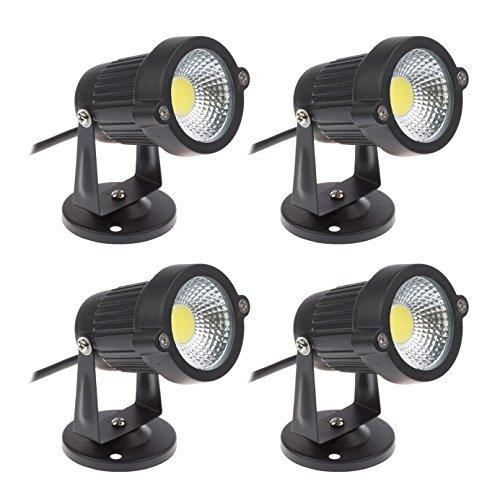 Faretti a LED da Giardino Esterno IP65 5W 220V Bianco freddo(set da 4)