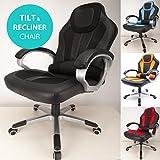 RayGar 2016Deluxe Gepolstert Sport Racing Gaming Chair Sessel Computer-Schreibtisch Büro Chefsessel Drehstuhl–New schwarz