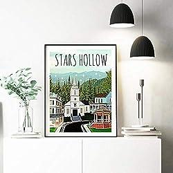 WADPJ Poster Leinwand Stars Hollow Poster Malerei Wandkunst Bild für Wohnzimmer Wohnkultur-50x70cmx1 stücke kein Rahmen