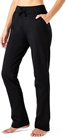 NAVISKIN Pantaloni da Corsa per Donna in Pile, Pantaloni Traspirante a Fondo Aperto, Pantaloni da Salotto per Esterno con Tasche Laterali, Perfetto per Fitness, Palestra, Allenamento