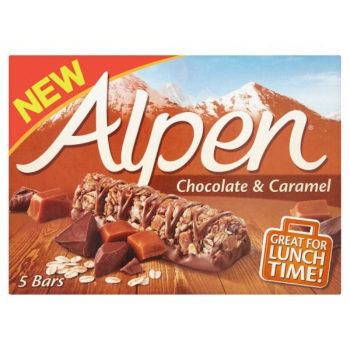 Alpen Chocolate & Caramel 5 Bars, 145g