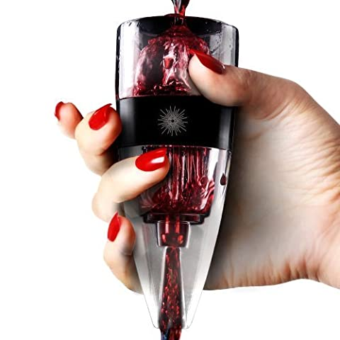 Weinbelüfter vinluxe Pro, Diffusor, Pourer Dekanter, schwarz mit Geschenktasche