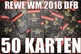 Rewe 2018 Sammelkarten 2018 Karten 2018 50 Stück mit Wizuals-Sticker