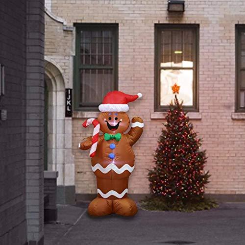 Aufblasbar Weihnachten Hof Dekorationen - hinffinity Weihnachten Aufblasbare Lebkuchenmann Dekoration Halten