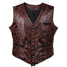 0dd8fbe8aa8ea Bslingerie® Herren Steampunk Gothic Faux Leather Kostüm Weste