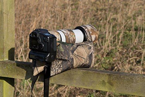 Grande double caméra Bean Bag vide Woodland Camo avec un sac de nylon imperméable dans chaque Compartiment