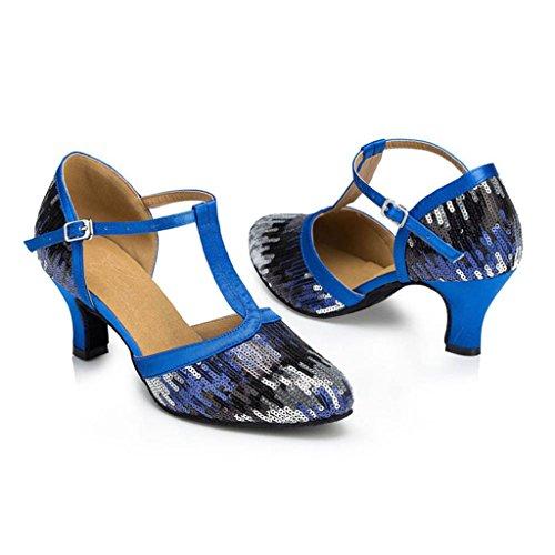 Meijili - Scarpe con plateau donna Blu