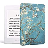 WDBHTAO Funda Kindle Imprime Kindle 8 Caso De Piel para Kindle E-Reader Ebook Delgada Cubierta Auto Sleep/Wakeup Hard Shell