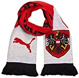 PUMA Schal ÖFB Fan Scarf, Red/White/Black, OSFA, 053054 01