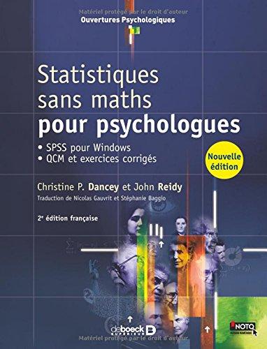 Statistiques sans maths pour psychologues ; SPSS pour Windows - QCM et exercices corrigés