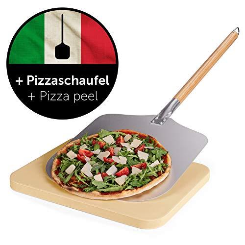 Blumtal Pierre A Pizza - Kit Pelle A Pizza Et Pierre Refractaire, Barbecue