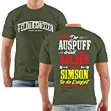 FELDWEGHEIZER Männer und Herren T-Shirt Auspuff dröhnt Größe S - 8XL