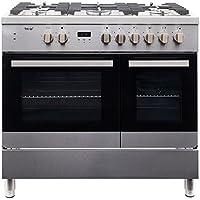 Teknix TKDF90PSS 90cm Pro dual fuel range cooker in Stainless Steel