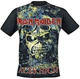 Iron Maiden Aces High Camiseta Negro M